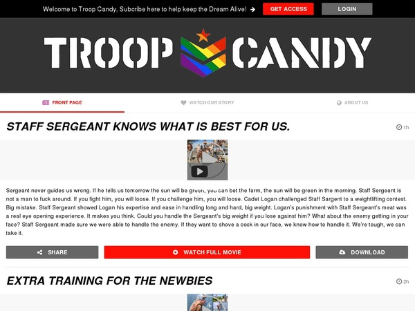 Free Troop Candy Passwords