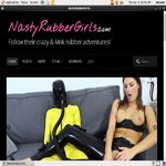 Nastyrubbergirls.com Latex Masturbation
