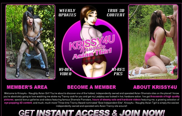 Signup For Krissy4u.com With Paypal