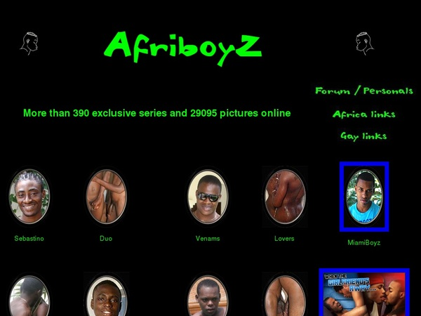 Mobile Afriboyz.com Account