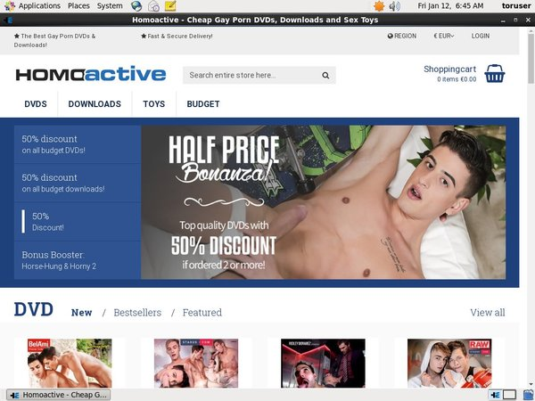 Homoactive Paypal Payment